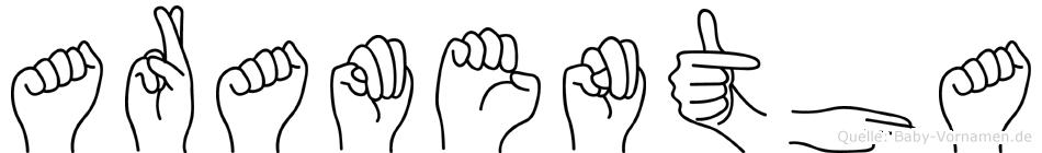 Aramentha in Fingersprache für Gehörlose
