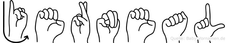 Jerneal in Fingersprache für Gehörlose