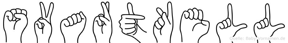 Svartkell im Fingeralphabet der Deutschen Gebärdensprache