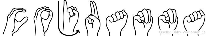 Cojuanna im Fingeralphabet der Deutschen Gebärdensprache