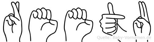 Reetu in Fingersprache für Gehörlose