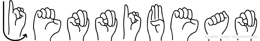 Jennibean im Fingeralphabet der Deutschen Gebärdensprache