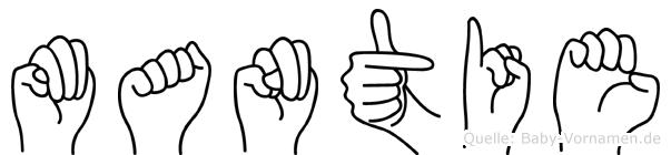 Mantie in Fingersprache für Gehörlose