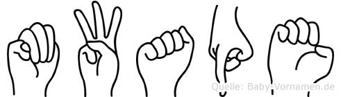 Mwape im Fingeralphabet der Deutschen Gebärdensprache