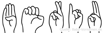 Beriu im Fingeralphabet der Deutschen Gebärdensprache