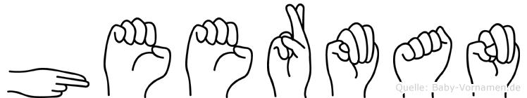 Heerman in Fingersprache für Gehörlose