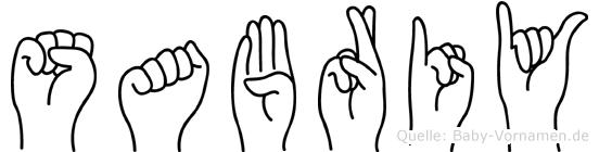 Sabriy in Fingersprache für Gehörlose