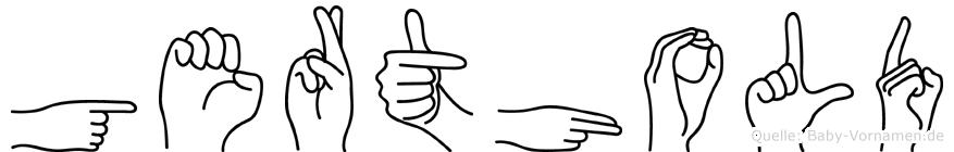 Gerthold im Fingeralphabet der Deutschen Gebärdensprache