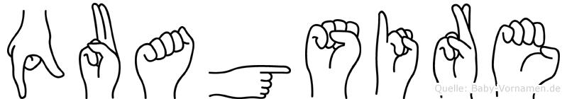 Quagsire im Fingeralphabet der Deutschen Gebärdensprache