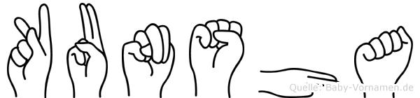 Kunsha in Fingersprache für Gehörlose