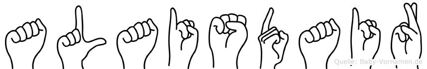 Alaisdair im Fingeralphabet der Deutschen Gebärdensprache