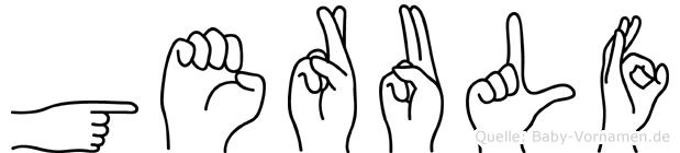 Gerulf in Fingersprache für Gehörlose