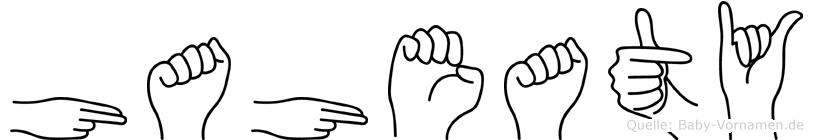 Haheaty im Fingeralphabet der Deutschen Gebärdensprache