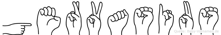 Gervasius in Fingersprache für Gehörlose
