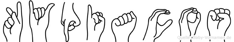 Kypiacos in Fingersprache für Gehörlose