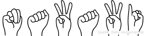 Nawawi im Fingeralphabet der Deutschen Gebärdensprache