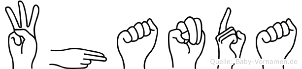 Whanda in Fingersprache für Gehörlose