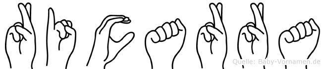 Ricarra in Fingersprache für Gehörlose