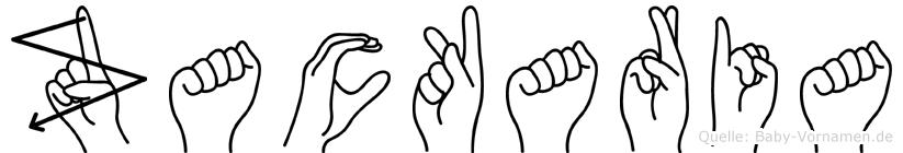 Zackaria im Fingeralphabet der Deutschen Gebärdensprache