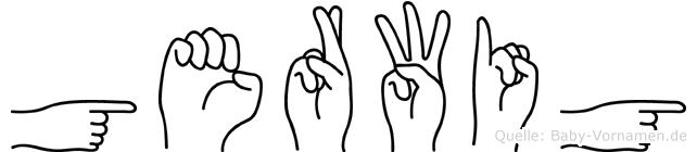 Gerwig im Fingeralphabet der Deutschen Gebärdensprache