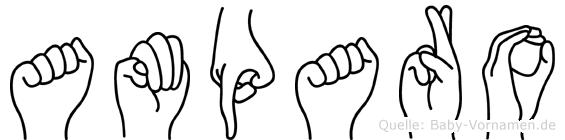 Amparo in Fingersprache für Gehörlose