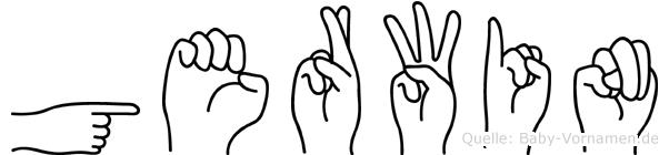 Gerwin in Fingersprache für Gehörlose
