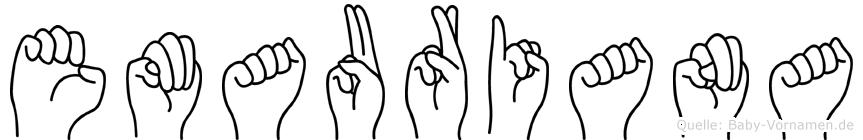 Emauriana im Fingeralphabet der Deutschen Gebärdensprache