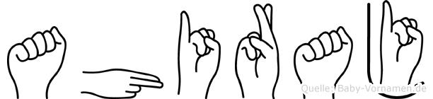 Ahiraj im Fingeralphabet der Deutschen Gebärdensprache