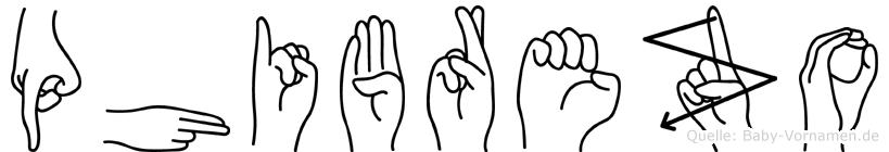 Phibrezo im Fingeralphabet der Deutschen Gebärdensprache
