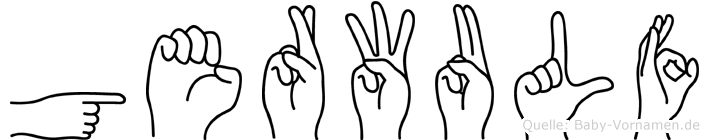 Gerwulf in Fingersprache für Gehörlose