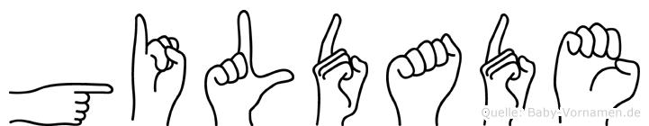 Gildade in Fingersprache für Gehörlose