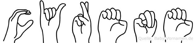 Cyrene im Fingeralphabet der Deutschen Gebärdensprache