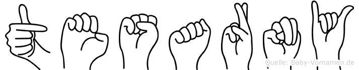 Tesarny im Fingeralphabet der Deutschen Gebärdensprache