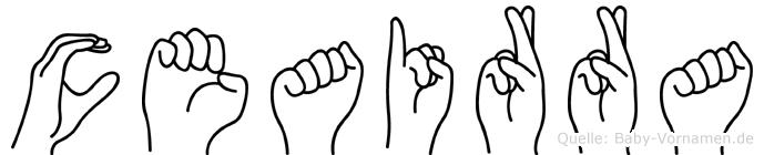 Ceairra in Fingersprache für Gehörlose