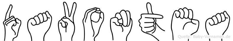 Davontea in Fingersprache für Gehörlose