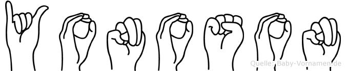 Yonoson in Fingersprache für Gehörlose