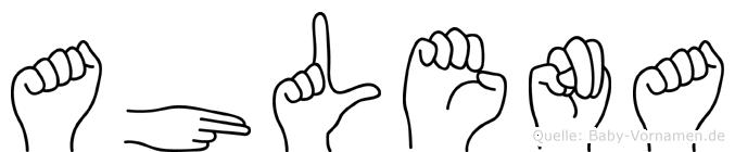 Ahlena im Fingeralphabet der Deutschen Gebärdensprache