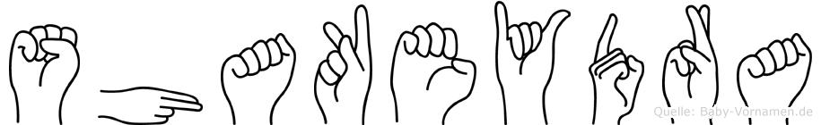 Shakeydra in Fingersprache für Gehörlose