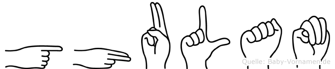 Ghulam im Fingeralphabet der Deutschen Gebärdensprache