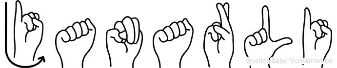 Janarli im Fingeralphabet der Deutschen Gebärdensprache