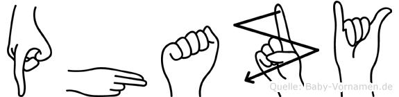 Phazy im Fingeralphabet der Deutschen Gebärdensprache