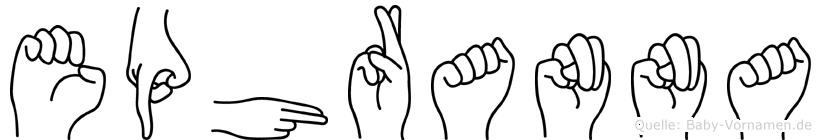 Ephranna in Fingersprache für Gehörlose