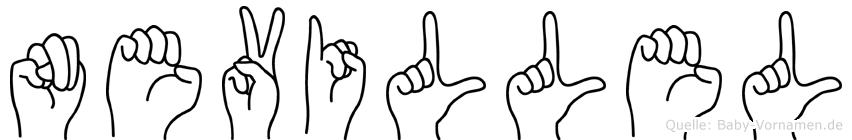 Nevillel im Fingeralphabet der Deutschen Gebärdensprache