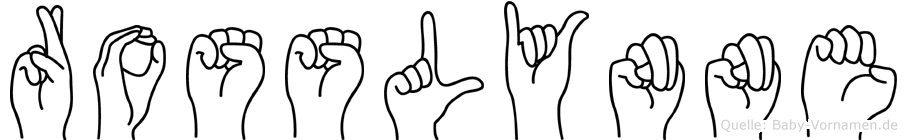 Rosslynne in Fingersprache für Gehörlose