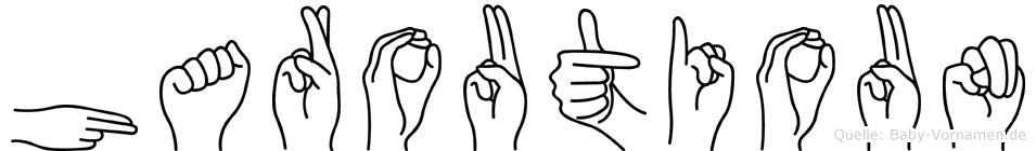 Haroutioun im Fingeralphabet der Deutschen Gebärdensprache