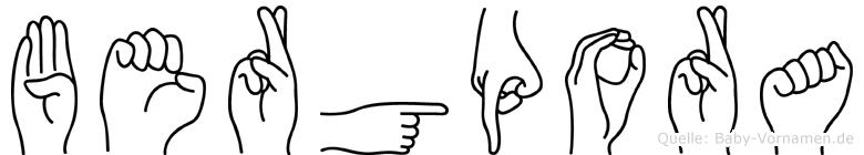 Bergpora in Fingersprache für Gehörlose