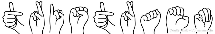 Tristraem in Fingersprache für Gehörlose