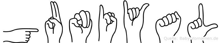 Guniyal in Fingersprache für Gehörlose