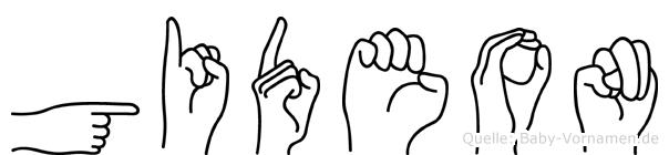 Gideon in Fingersprache für Gehörlose