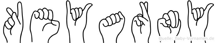 Keyarny im Fingeralphabet der Deutschen Gebärdensprache